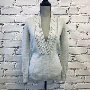 Eddie Bauer Merino Wool Shawl Neck Sweater